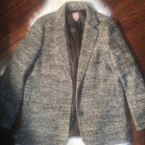 J. Jill Pea Coat Knit Coat Women's Medium